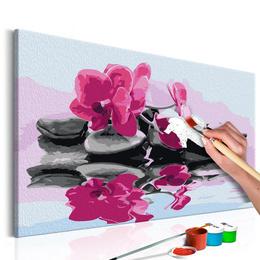 Pictatul pentru recreere - Orchid With Zen Stones (Reflection In The Water)