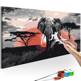 Pictura pe numere - Elefant (Africa)