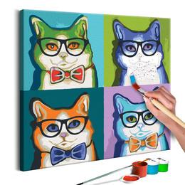 Pictura pe numere - Pisici cu Ochelari