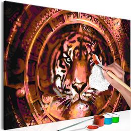 Pictura pe numere - Tigru si Ornamente