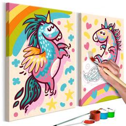 Pictura pe numere - Unicorni haiosi