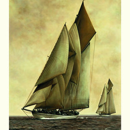 "Poster de arta ""Corabia cu panze"""