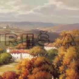 Poster decorativ Peisaj toscan II
