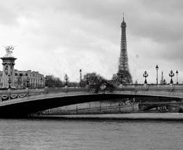 "Poster ""Podul Alexandru si Turnul Eiffel"""