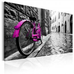 Tablou canvas Bicicleta roz vintage