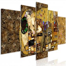 Tablou canvas Sarut pe obraz, 5 piese