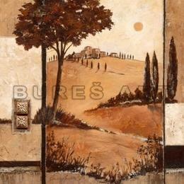 Tablou ''Culorile Toscanei'' inramat