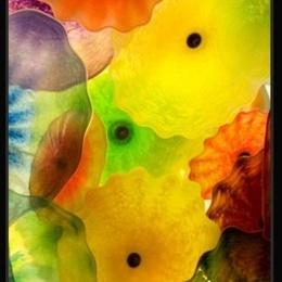 Tablou Flori de sticla III inramat
