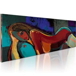 Tablou pictat manual - Femeie pe divan