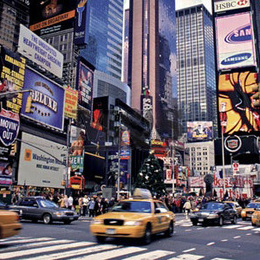 "Tablou ""Times Squares New York City"" inramat"