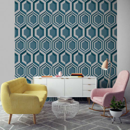 Tapet superlavabil modern geometric fagure