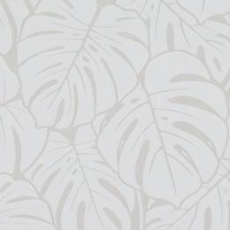 Tapet vinil lavabil cu frunze mari grafice