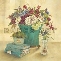 """Tablou """"Vas cu flori de camp'' inramat"""