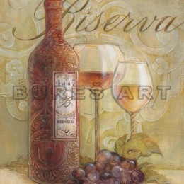Tablou decorativ Vin si struguri inramat
