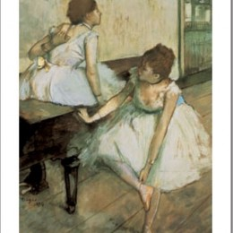 Tablou Degas Dansatoare in pauza