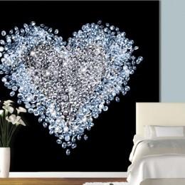 Fototapet Inima de diamante