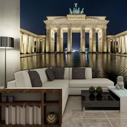 Fototapet - Brandenburg Gate at night