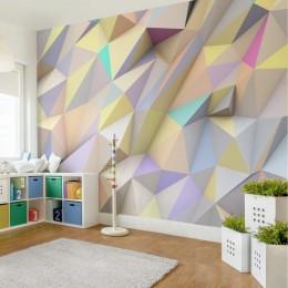 Fototapet 3D Triunghiuri pastelate
