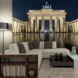 Fototapet - Brandenburg Gate at night