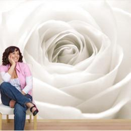 Fototapet floral Trandafir alb