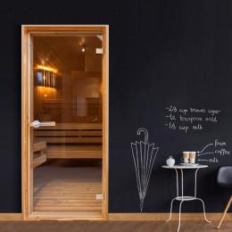 Fototapet pentru ușă - Sauna
