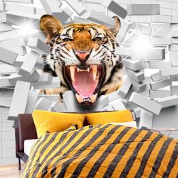 Fototapet - Tiger Jump