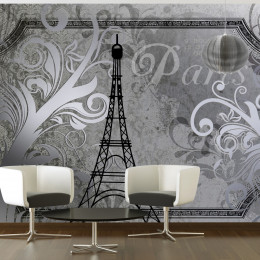 Fototapet - Vintage Paris - silver