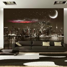 Fototapet vlies Noapte instelata peste New York