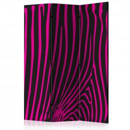 Paravan - Zebra pattern (violet) [Room Dividers]