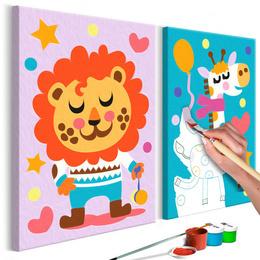 Pictura pe numere - Leu si Girafa