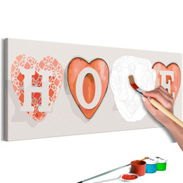 Pictura pe numere - Patru Inimi