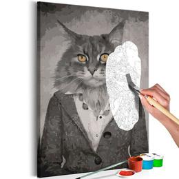 Pictura pe numere - Pisica Eleganta