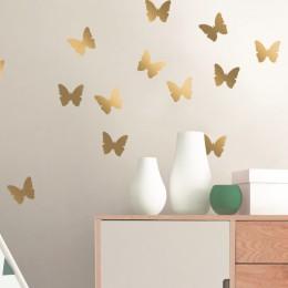 Sticker de perete Fluturi aurii