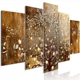 Tablou canvas Decor cu frunze de toamna, 5 piese