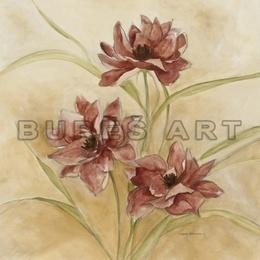 Tablou decorativ cu flori - inramat