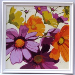 Tablou decorativ ''Flori colorate II'' inramat