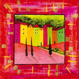 Tablou decorativ Paesino roz