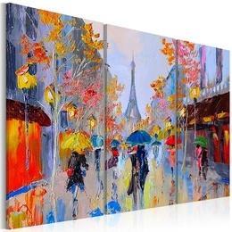 Tablou pictat manual - Rainy Paris