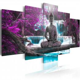 Tablou - Waterfall and Buddha