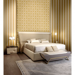 Tapet dungi aurii superlavabil pentru dormitor