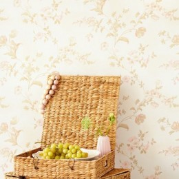 Tapet superlavabil floral discret vintage