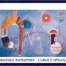 "Poster Kandinsky ""Curbe si colturi"" inramat"