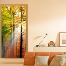 Fototapet peisaj Raze de soare in padure