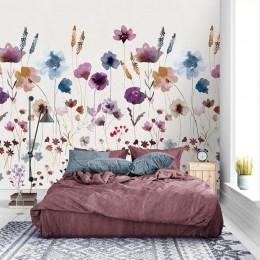 Fototapet Acuarela cu flori de camp