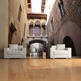 Fototapet - Barcelona Palau generalitat in gothic Barrio