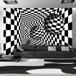 Fototapet - Black & White Corridor