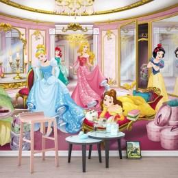 Fototapet fetite Printesele Disney in castel