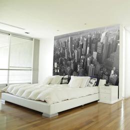 Fototapet - New York: skyscrapers (bird's eye view)