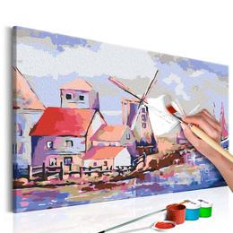 Pictura pe numere - Morile de Vant (Peisaj)