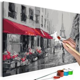 Pictura pe numere - Parisul Ploios